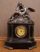 Antique Effect Romantic Mantel Clock Cupid and Psyche